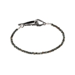 Single Strand Black Spinel Bracelet
