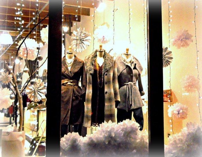 Stella Carakasi Store Window for the Holiday Season